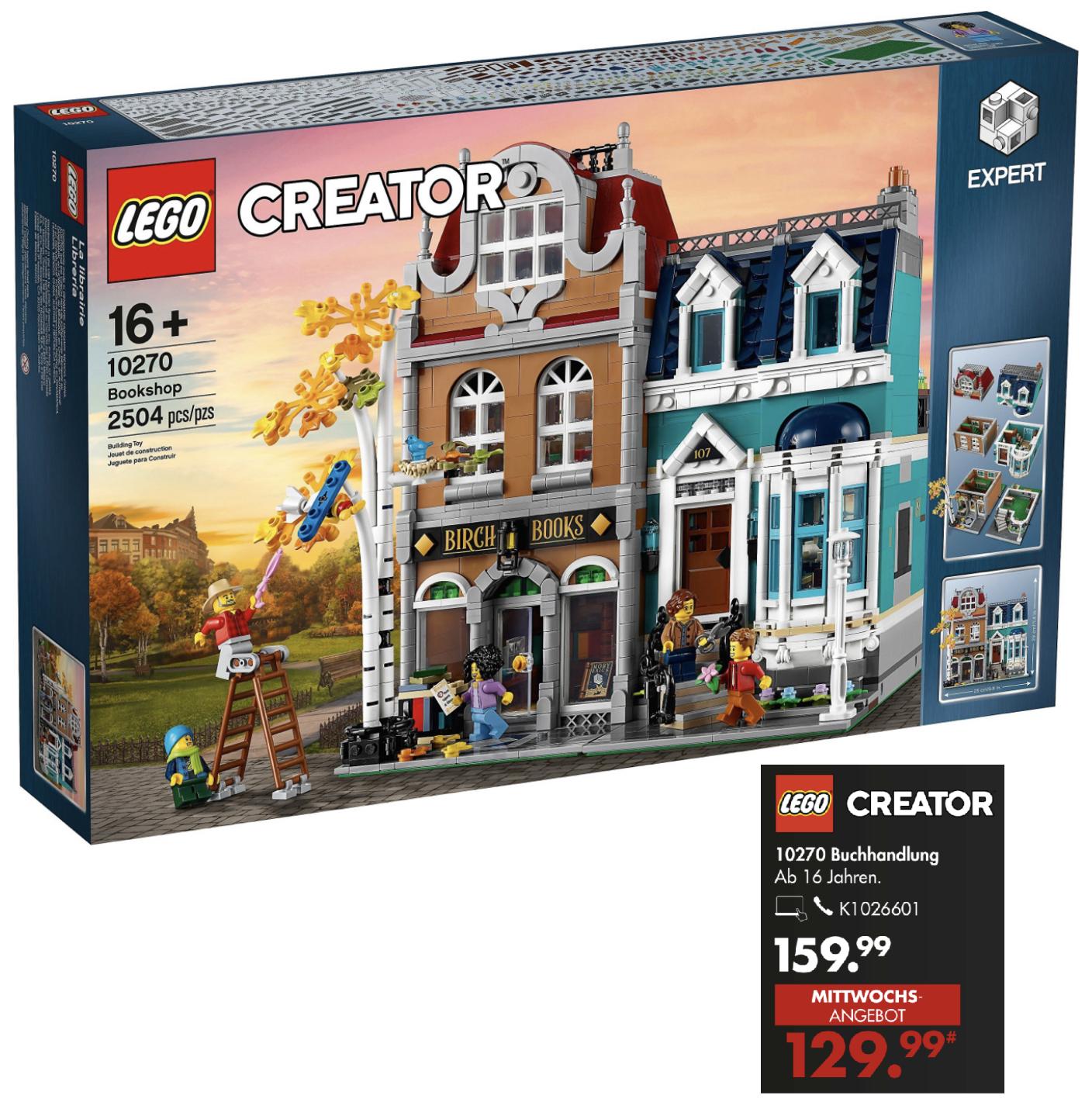 Nur am 21.04.: LEGO Creator Expert 10270 Buchhandlung für 129,99€