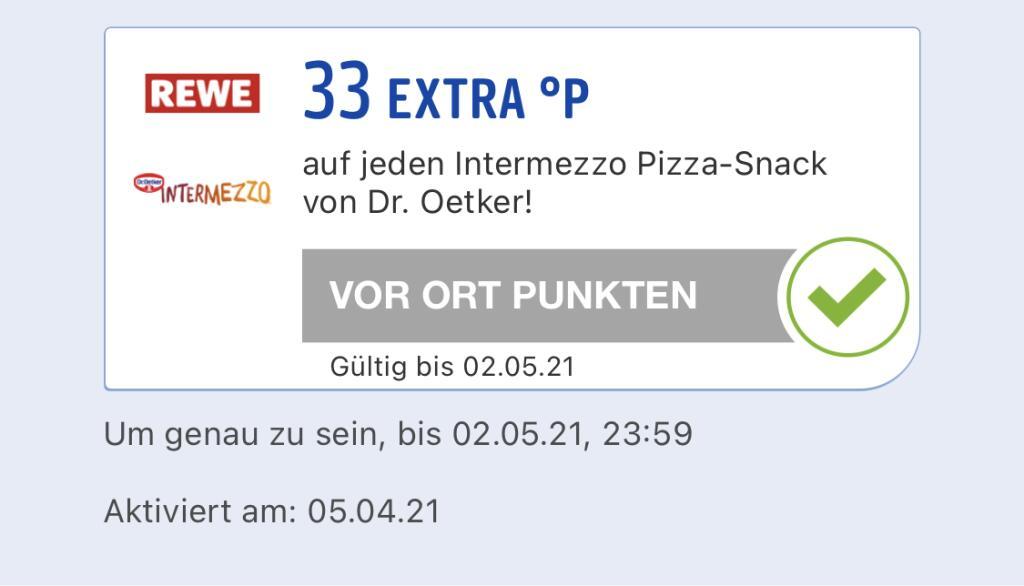 33 Extra Paybackpunkte auf jeden Dr. Oetker Intermezzo Pizza-Snack