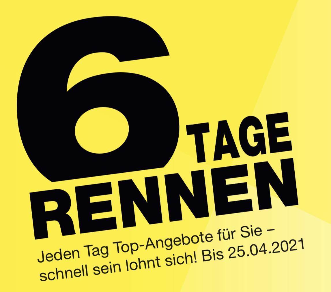 6 Tage Rennen: 10€ Rabatt ab 60€ / 20€ Rabatt ab 100€ / 40€ Rabatt ab 200€ auf einen Einkauf vieler toller Marken + 10% Shoop!
