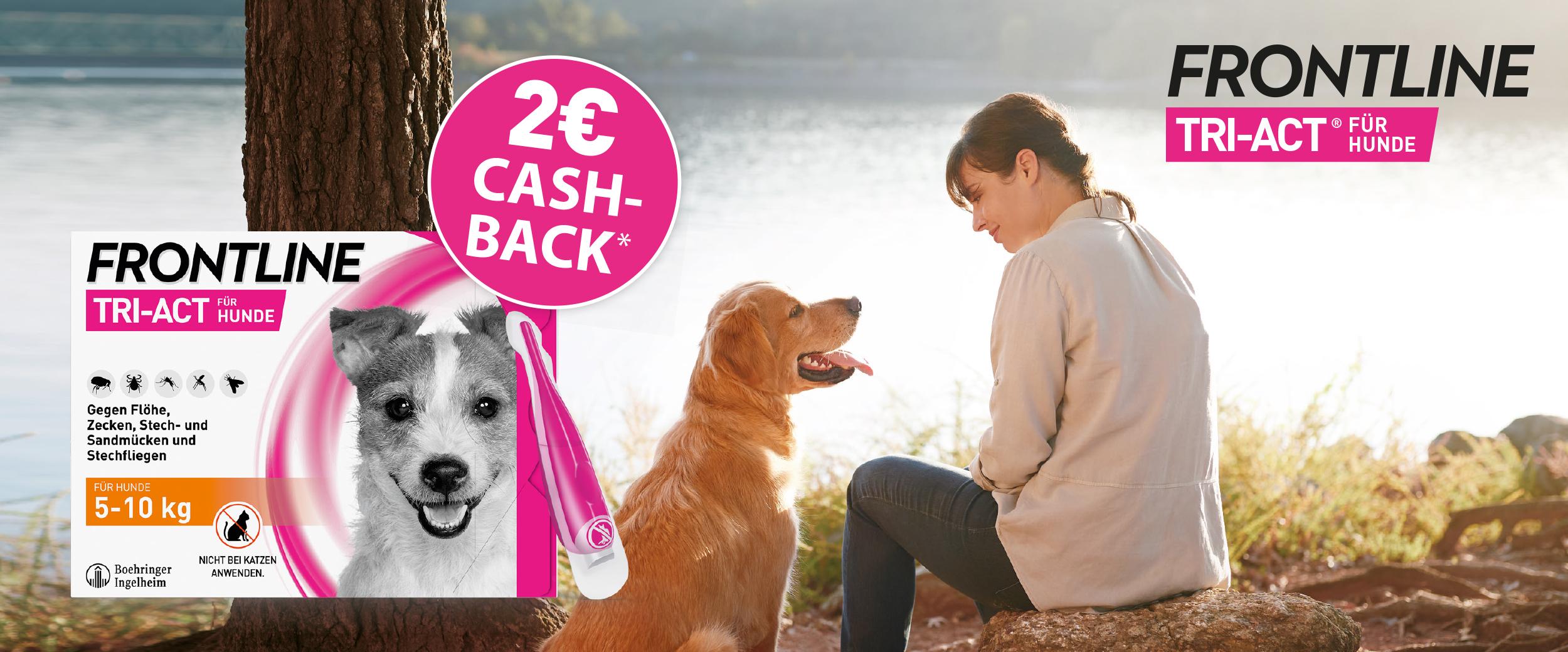 2€ Rabatt auf FRONTLINE TRI ACT® für Hunde
