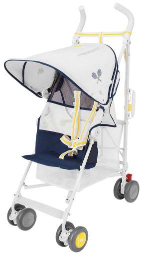 """MACLAREN Buggy Ace """"Volo"""" in Weiß/ Gelb/ Schwarz (Tragfähigkeit: 25 kg, geeignet für Kinder ab 6 Monaten)"""