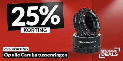 25% auf alle Caruba Makroringe - z.B. für Fujifilm X Mount