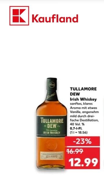 Tullamore DEW Irish Whiskey 40%, 0,7l Flasche