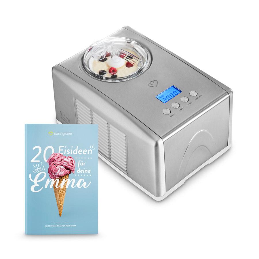 Springlane Emma Eismaschine mit Kompressor 1,5 l