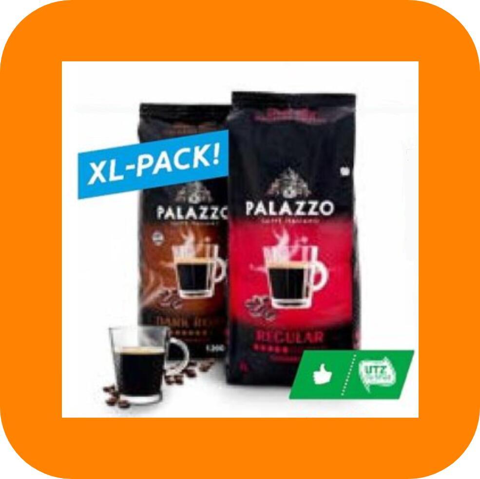 1200g Palazzo Kaffeebohnen (4,13€/kg) Dark Roast & Regular