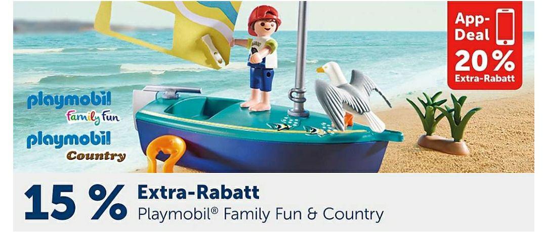 Playmobil Family Fun & Country 15% Rabatt auf der Webseite und 20% in der App bei Mytoys