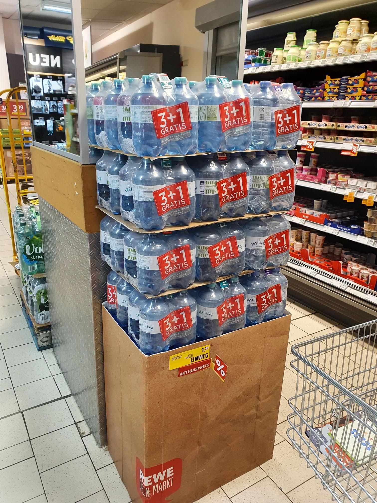 (Lpz Hbf,Holzhausen | Göttingen) VÖSLAUER 3 Flaschen + 1 Flasche Gratis (zzgl. 1€ Pfand) Rewe