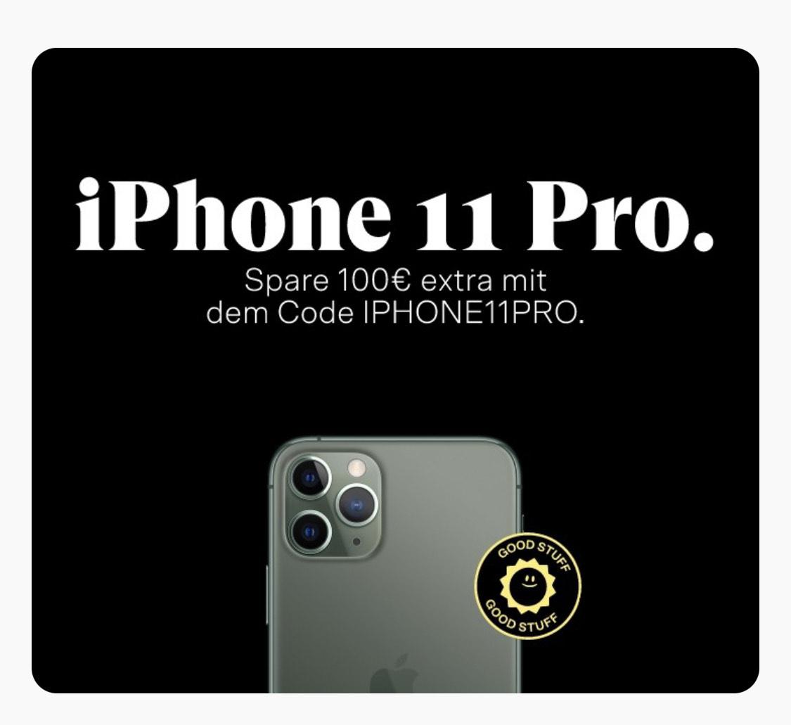 -100€ auf alle iPhone 11 Pro Refurbished