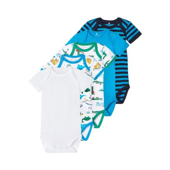 Babymarkt: name it Body 5er Pack Hawaiian Ocean (100% Bio-Baumwolle) für 9,99€+4,95€ Versand oder Seed Kinderwagen Papilio black für 199,99€