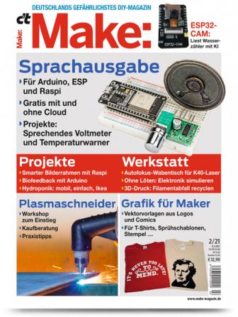 [Heise] c't Hacks / Make Abo (2 Ausgaben) + 10€ Amazon-Gutschein oder Arduino Nano + Make Stoffbeutel für 14,30 €