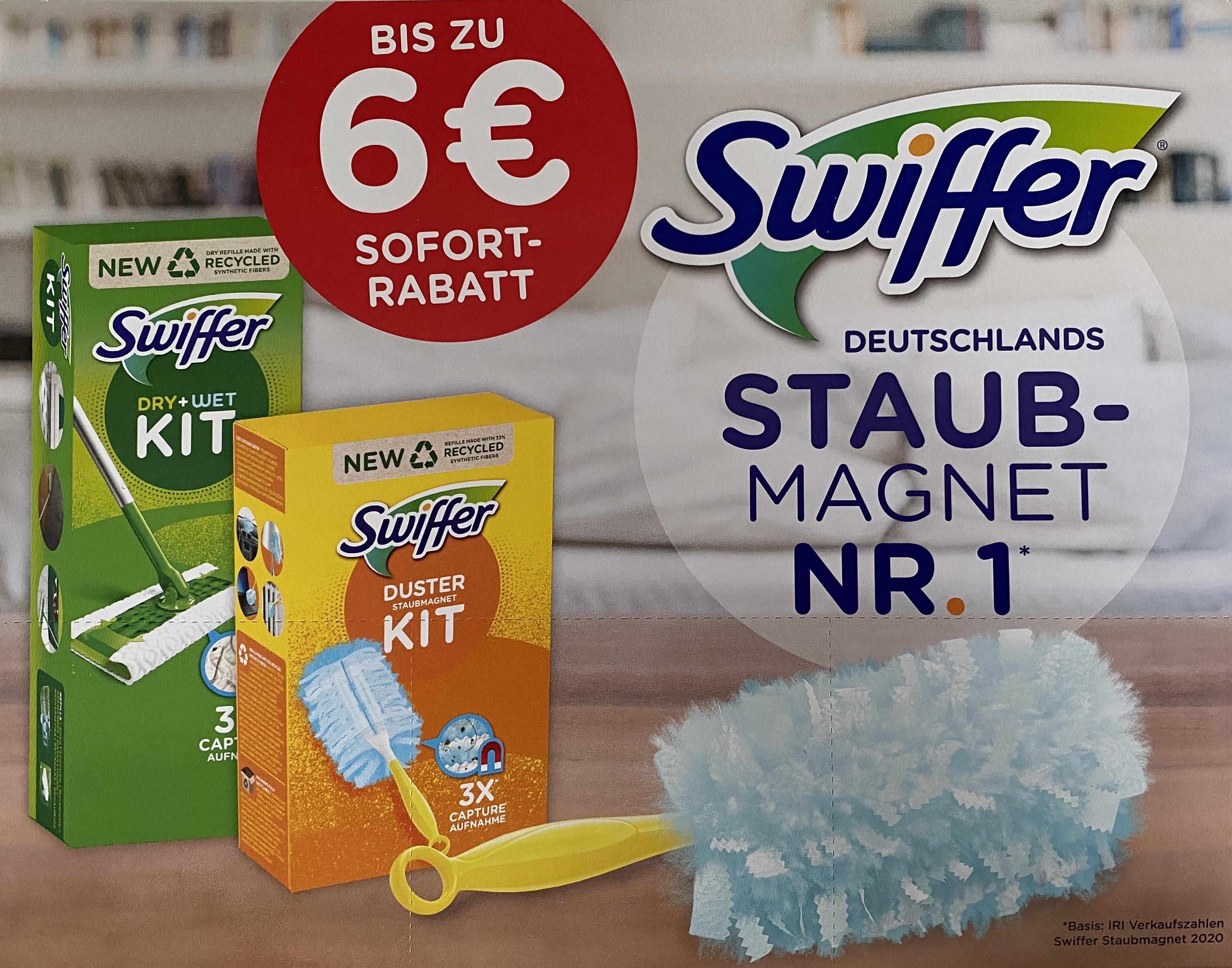 [Coupon] Sofortrabatt auf Swiffer Staubmagnet und Bodenwischer