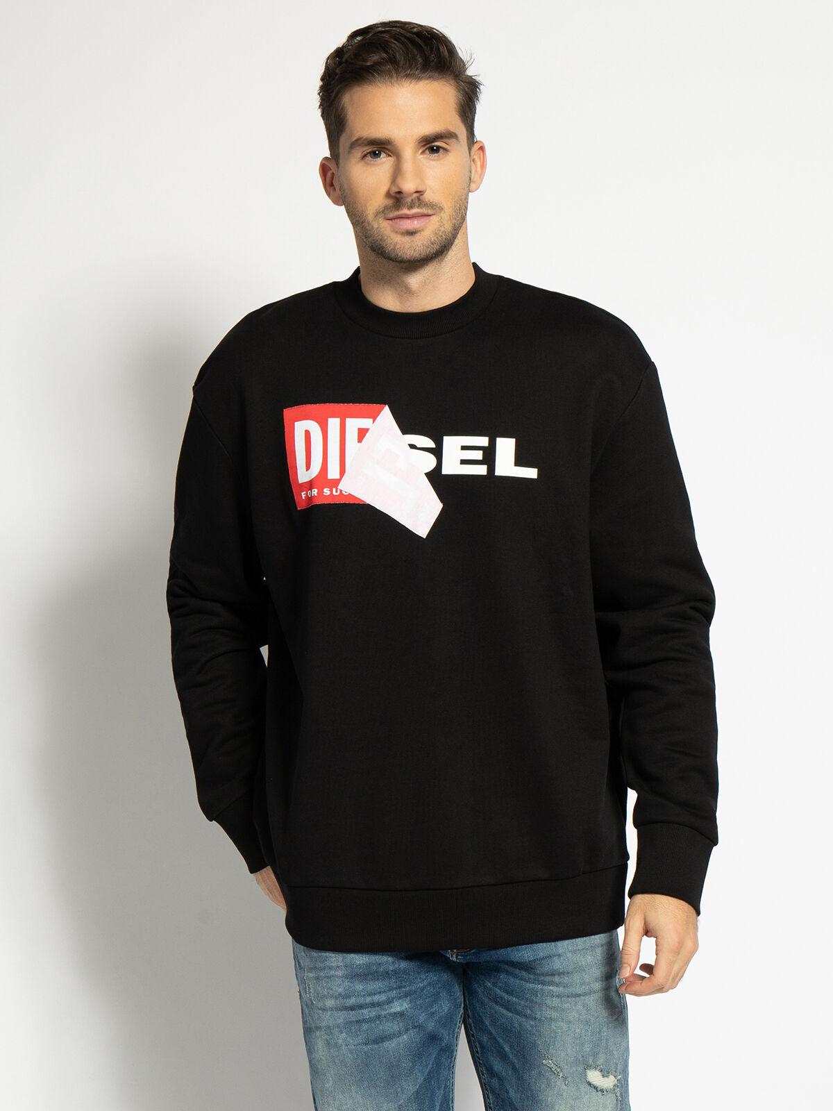 Diesel Sweatshirt Samy Felpa (schwarz) Gr. S & M