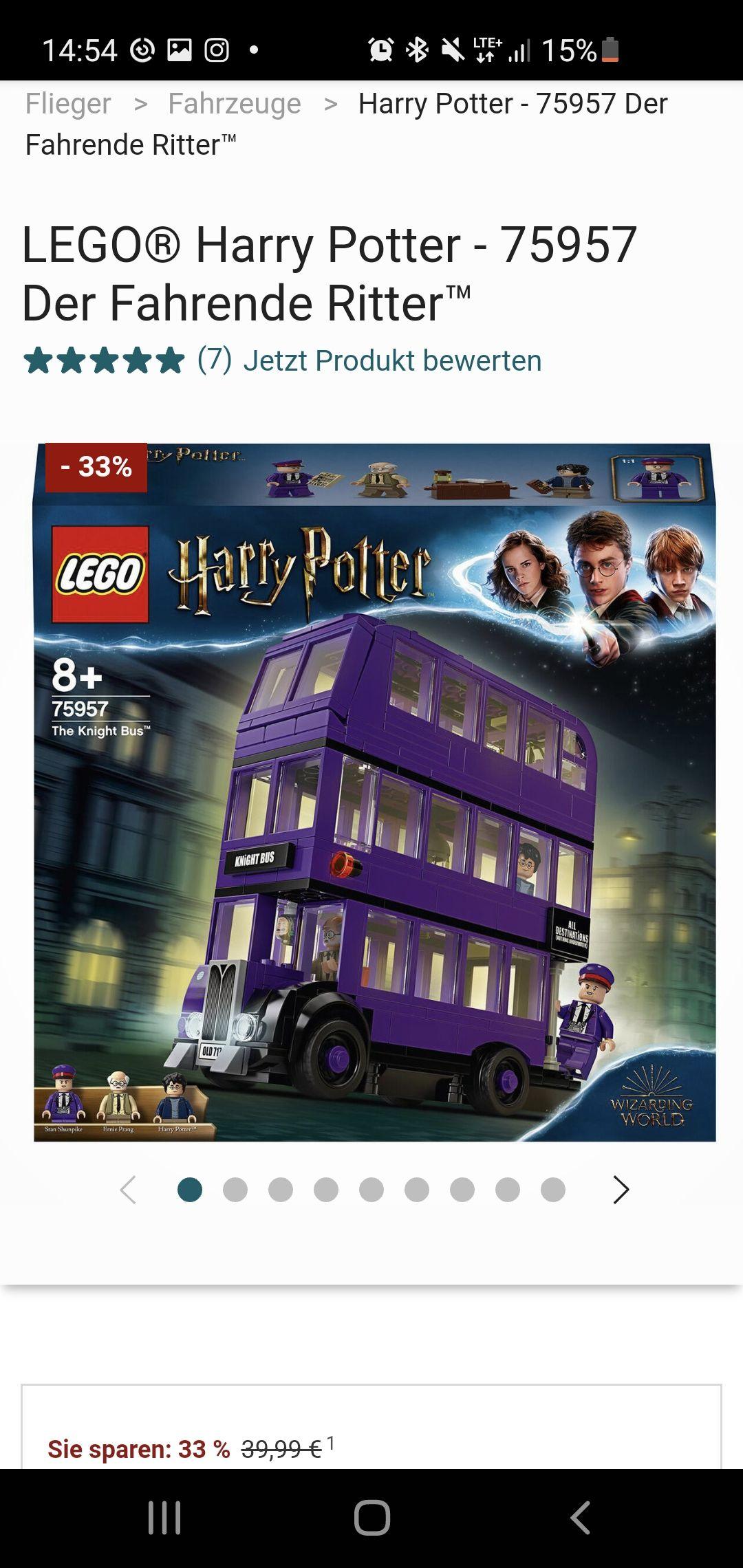 Lego Harry Potter Fahrende Ritter 75957