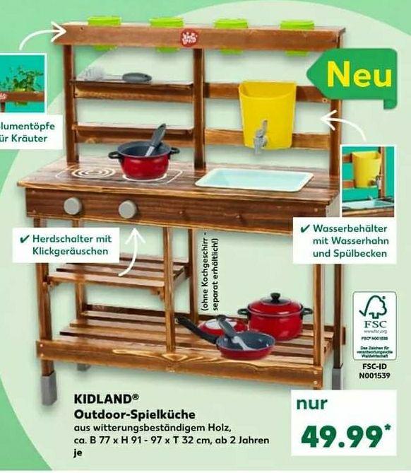 Kaufland Kidland Outdoor Spielküche Matschküche. Vor wenigen Wochen war fast die selbe Spielküche bei Lidl ruck zuck ausverkauft