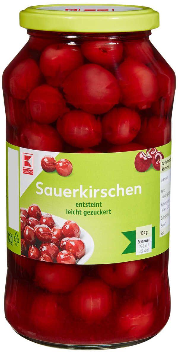 [Kaufland ab 22.04.] K-Classic Sauerkirschen 720ml (350g Abtropfgewicht) für 1,29€