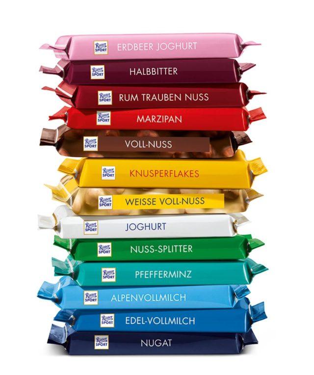 [Kaufland regional (ehemals Real Filialen)] Ritter Sport Schokolade Bunte Vielfalt verschiedene Sorten je 100g Tafel ab 22.04. für nur 0,55€