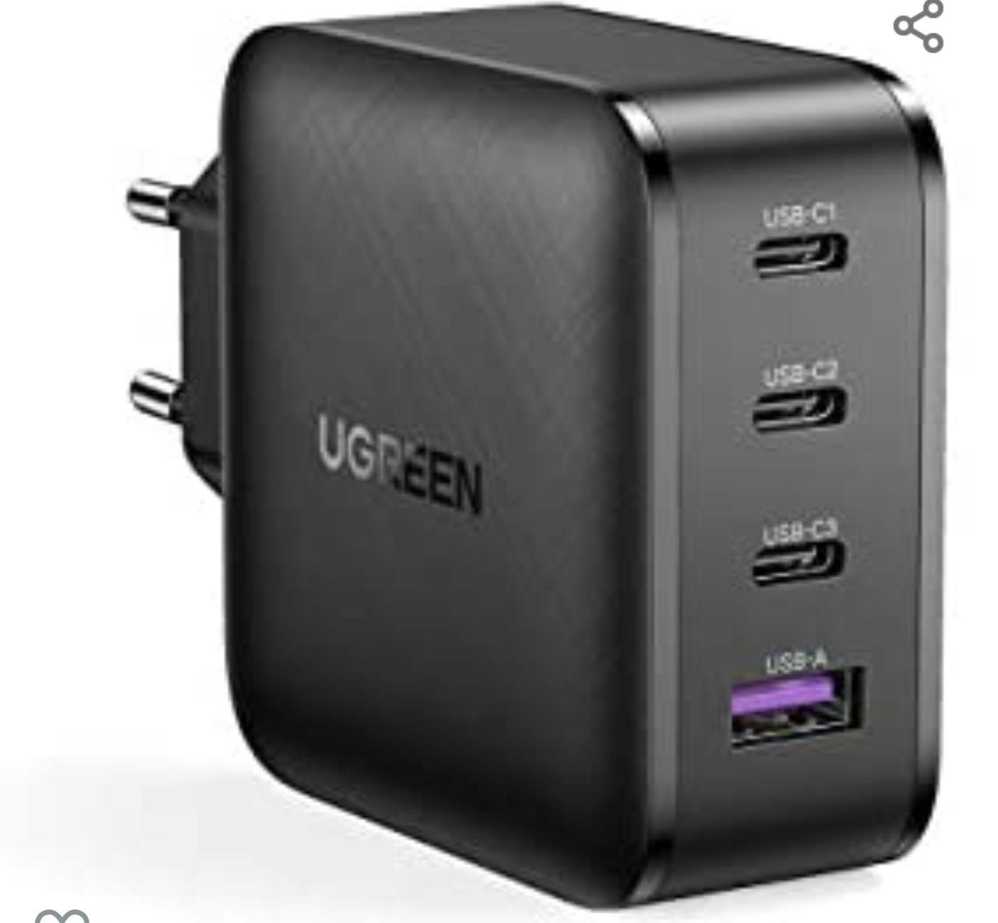 UGREEN USB C Ladegerät 65W Power Delivery mit GaN Tech [Amazon Prime]