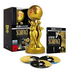 """""""Die Augen, Chico, die lügen nie"""" Scarface The World Is Yours Limited Edition [4K Ultra HD Blu-ray] Limited Edition, FSK 18!"""