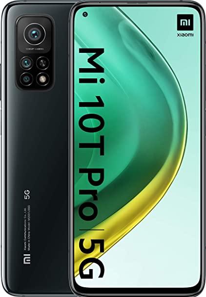 """Xiaomi Mi 10T Pro 5G 128GB UFS 3.1 8GB LPDDR5 Snapgdragon 865 6.67"""" DotDisplay 144Hz HDR10 108MP TripleCAM 5000mAh Akku (generalüberholt)"""