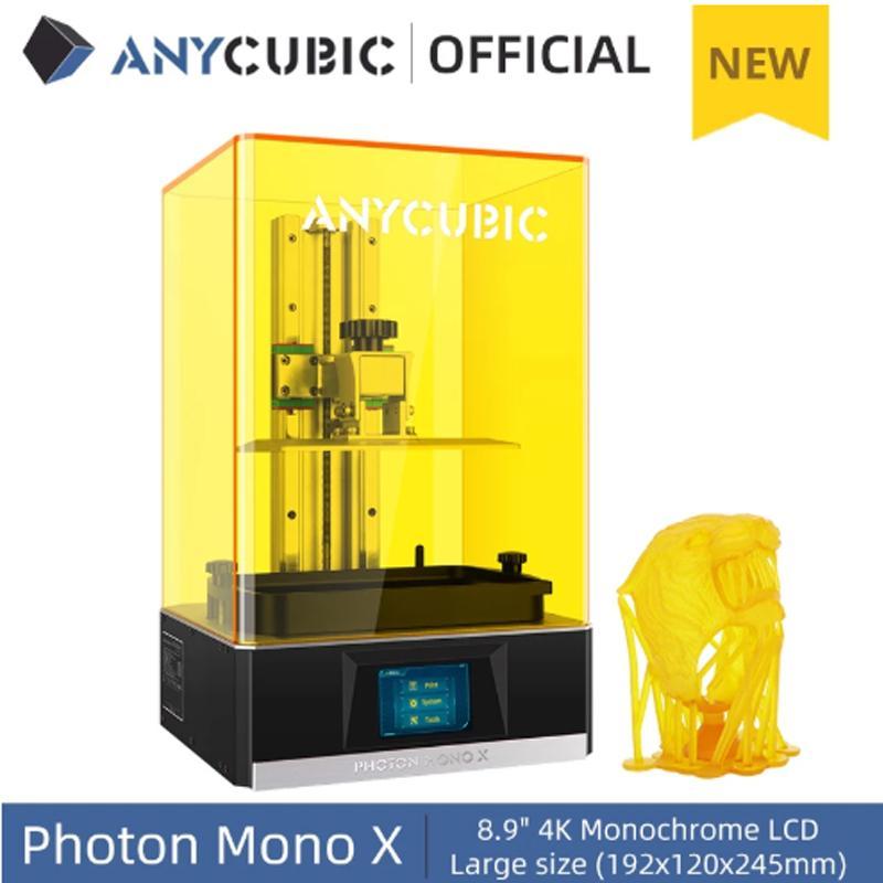 """Anycubic Photon Mono X 3D-Drucker (SLA/LCD, Resin, 192x120x245mm Bauraum, 60mm/h, 3.5"""" Touchscreen, USB, WLAN)"""