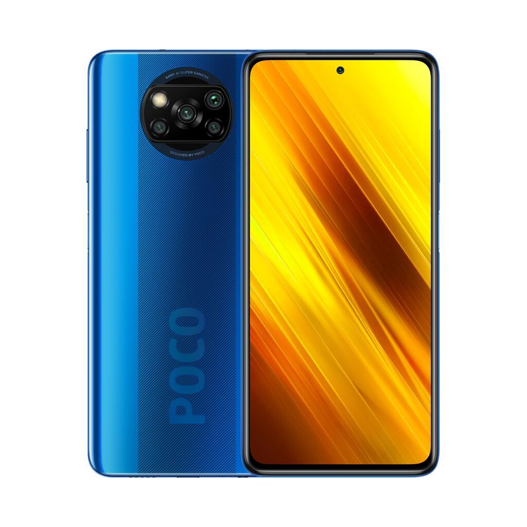 Xiaomi POCO X3 NFC (Blau oder Grau) 6+128G 5.160mAh, 6,67 Zoll 120 Hz Display, 33 W, Schnelladegerät dabei