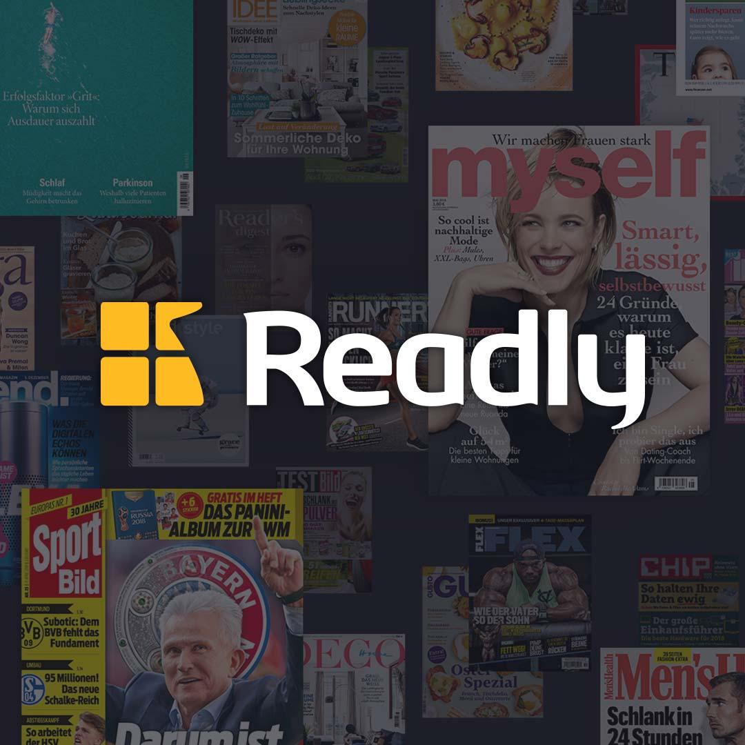 2 Monate Readly Magazin-Flatrate gratis (u.a. mit Auto Bild, Rolling Stone, Sport Bild, etc.)