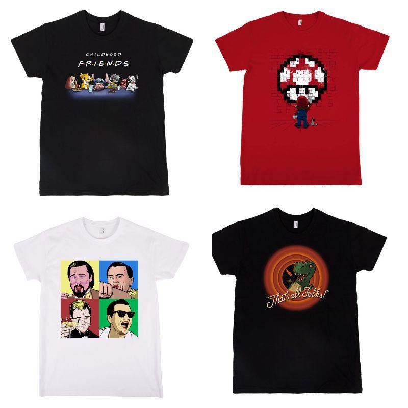 4 Shirts mit den Motiven eurer Wahl für 40€ inkl. gratis Versand