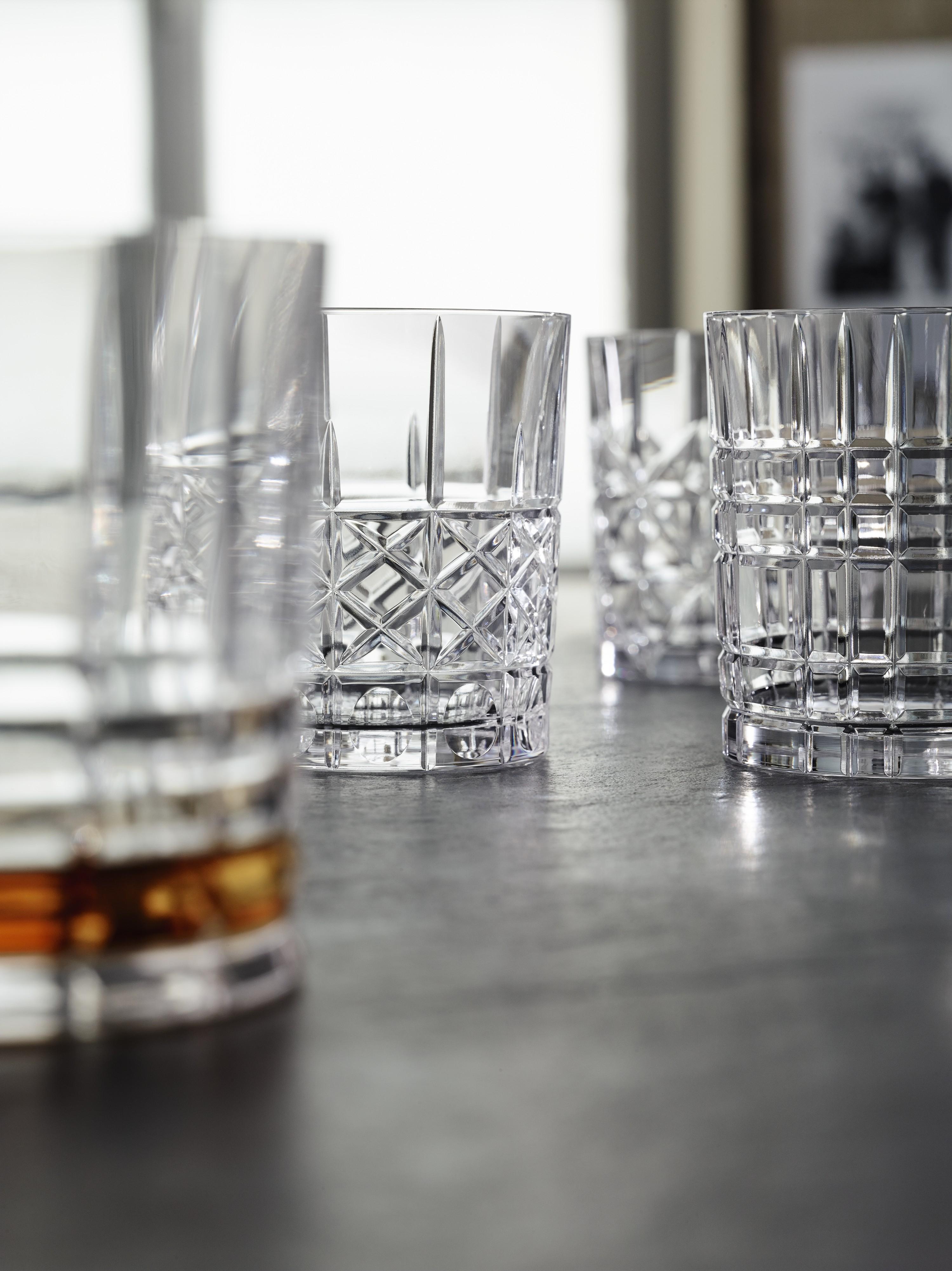 """[XXXLutz.de] 3x Nachtmann Whisky-Gläserset /Tumbler """"Highland"""" 4-teilig (insgesamt 12 Gläser, je 345ml, Kristallglas, 4 verschiedene Dekore)"""