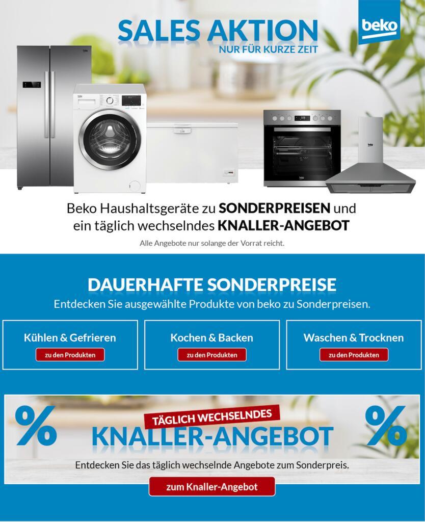 Beko Aktion Saleswochen z.B. Beko WMY71464STR1 Waschmaschine für 333,99€ statt 440,41€