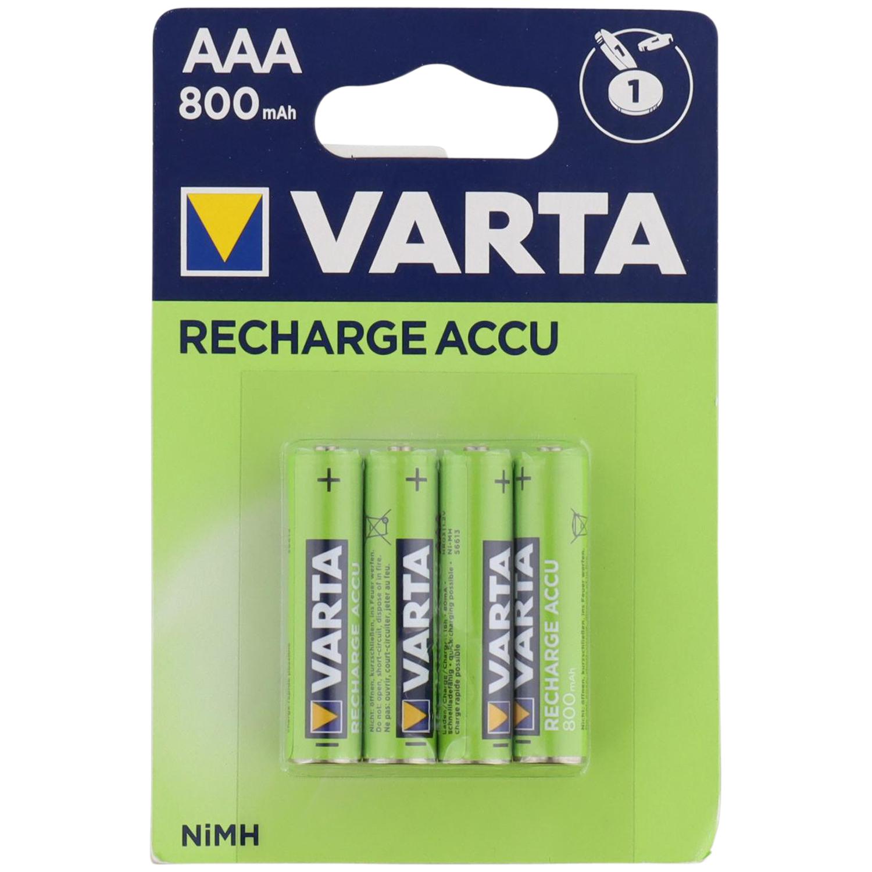 4 Stück Varta NiMH, aufladbare AAA-Batterien für 2,99 Euro oder 4 Stück AA-Batterien für 3,99 Euro [Action Filiale]