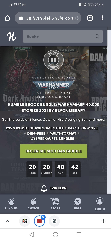 Warhammer 40k humble bundle ebooks