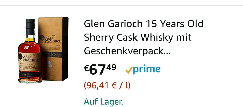 Glen Garioch 15 yrs Sherry Cask Matured Whisky