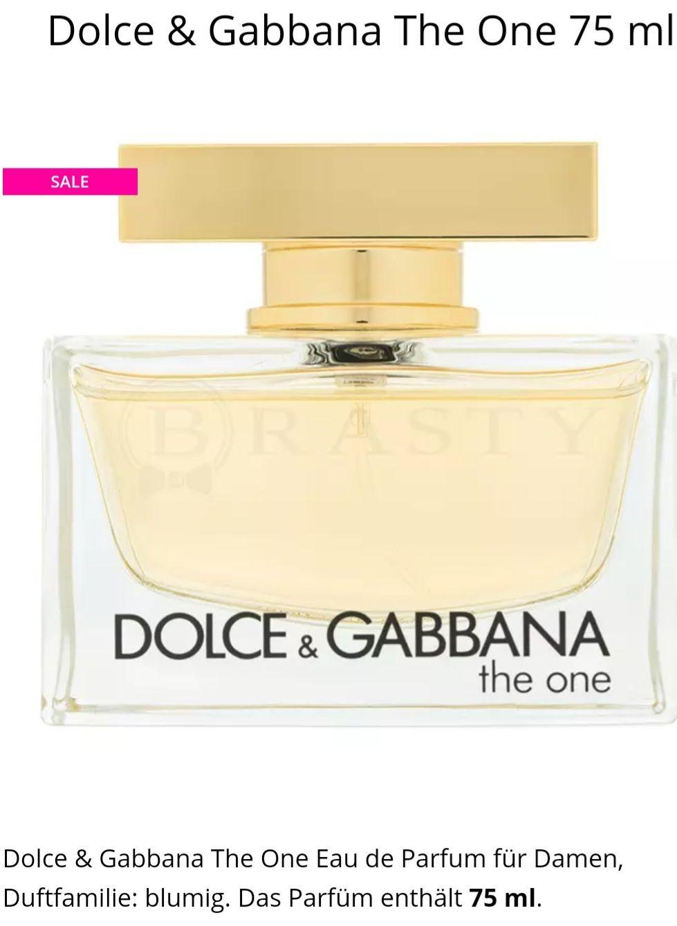 Dolce & Gabbana The One 75 ml EDP für Damen
