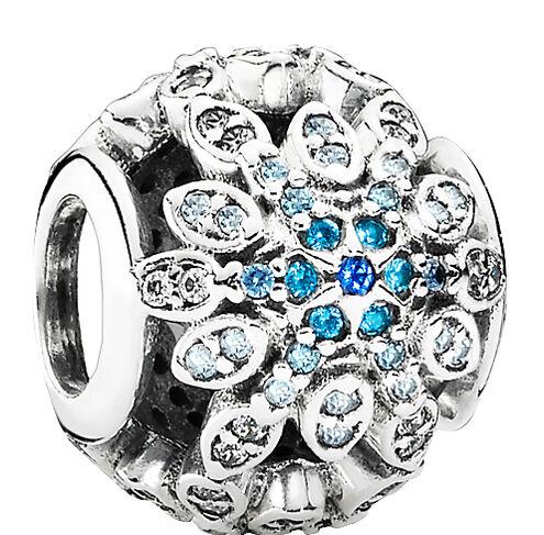 Pandora, Eisblaue Schneeflocke, 925er Silber, (Abholung 27,30€)