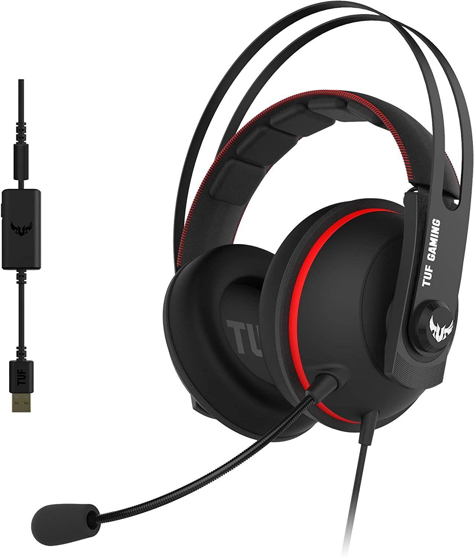 ASUS TUF Gaming-Headset (7.1 Surround, 53 mm Treiber, Mikrofon, für PC, Playstation, Xbox & Switch)