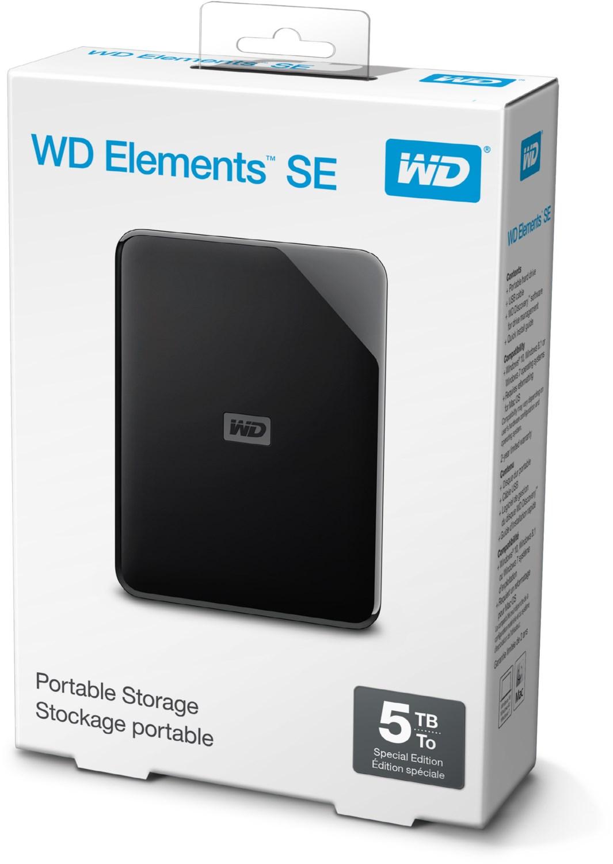 """WD Elements SE 5TB externe Festplatte (17.59€/TB, 2.5"""", USB 3.0 Micro-B, 110x81.5x21mm, 230g)"""