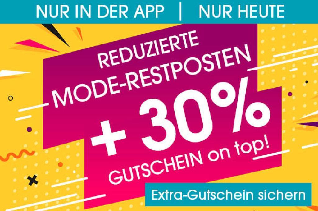 30% Rabatt auf Mode - nur heute in der Babymarkt-App