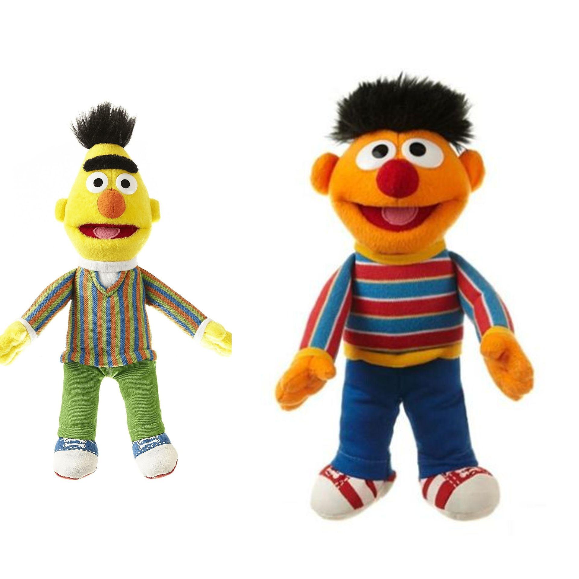Living Puppets, Ernie oder Bert , ca. 20cm, Sesamstrasse, Plüschfigur, Kuscheltier