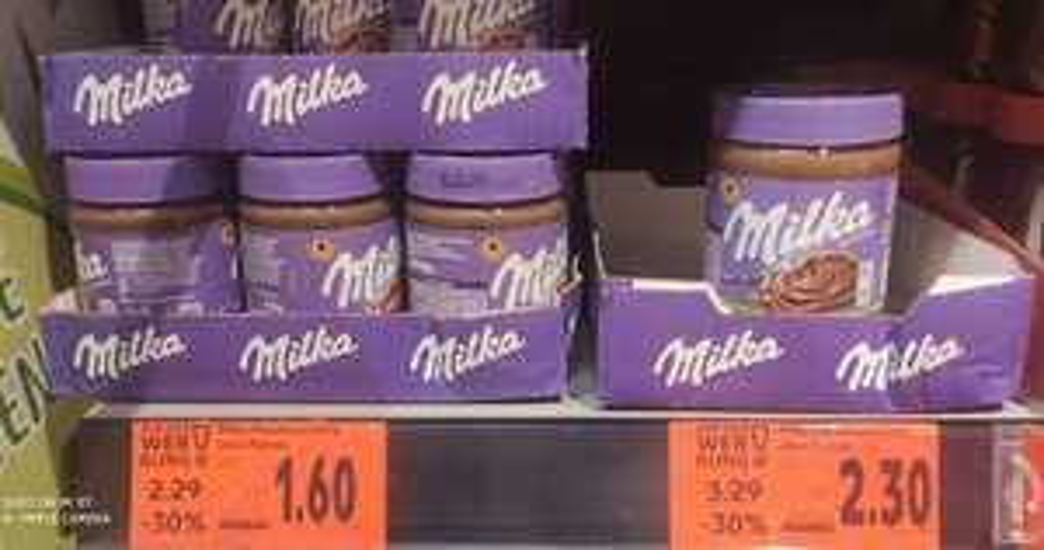 [Kaufland Do-Mi] 30% auf alle Milka Produkte z.b Milka Haselnusscreme 600g für 2,30€ (350g für 1,60€)