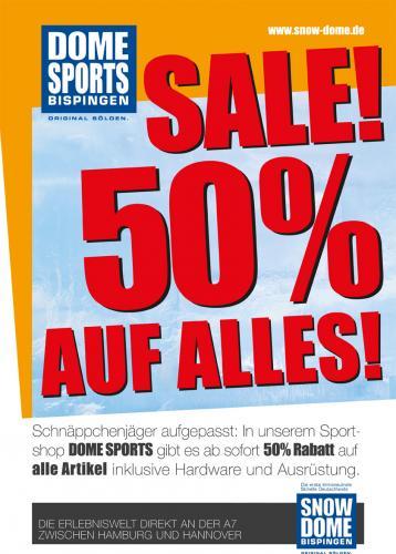 [Lokal A7 Bispingen] Abverkauf 50% Rabatt Dome Sports Bispingen
