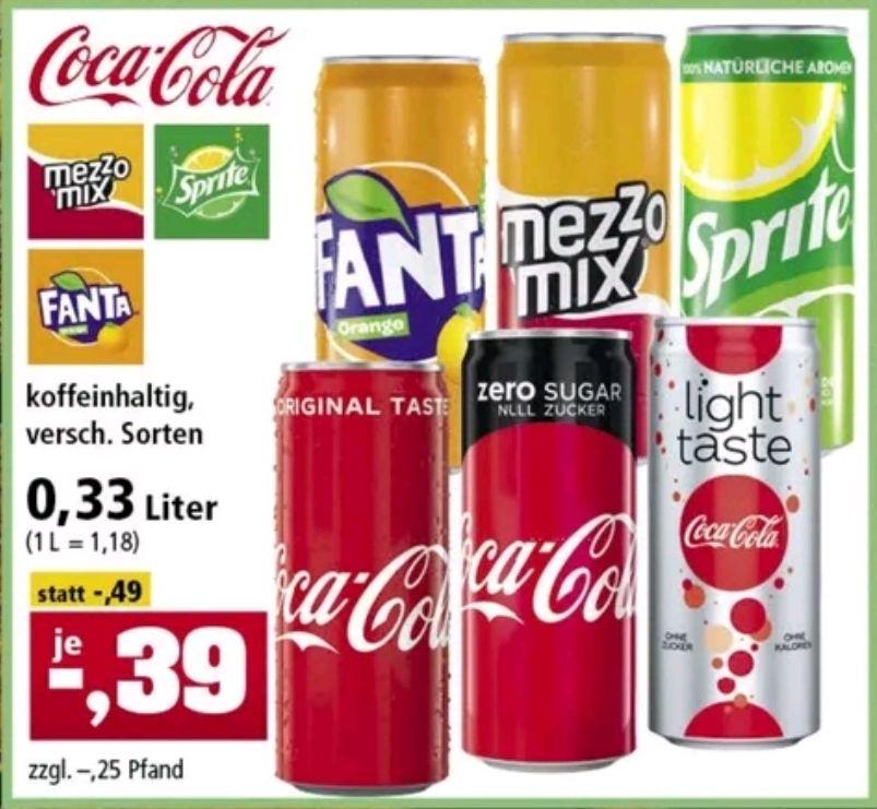 (Thomas Philipps) CocaCola, Fanta, Sprite etc. 0,33L Dosen, Versch. Sorten