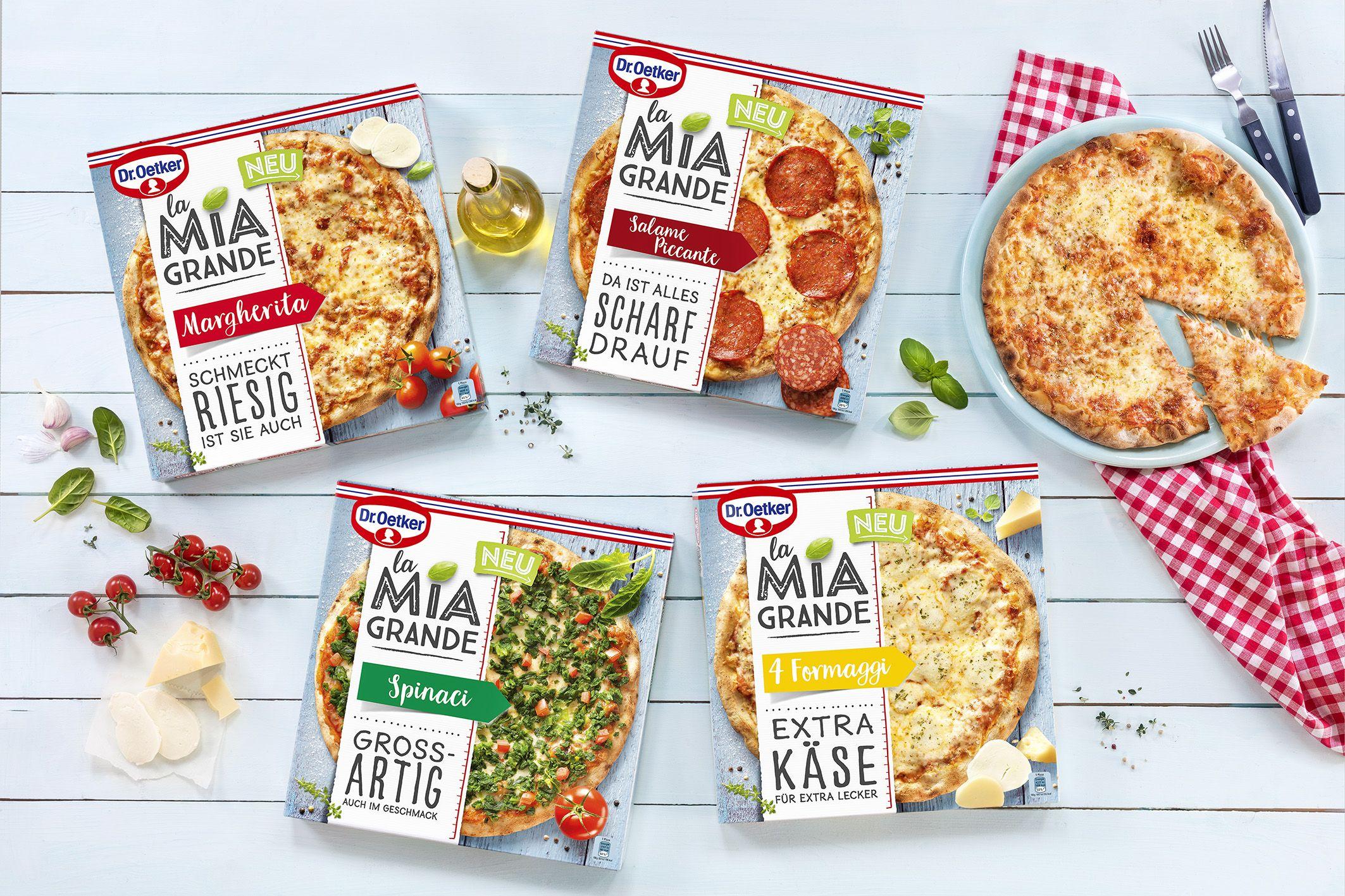[Edeka Minden-Hannover (+Südwest)] Dr. Oetker La Mia Grande Pizza versch. Sorten mit Coupon für 2,29€(2,39€)