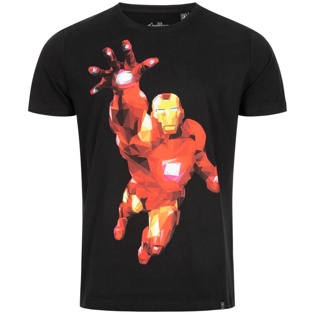 GOZOO x Marvel Iron Man T-Shirt (100% Baumwolle, Größe S - L) [SportSpar]