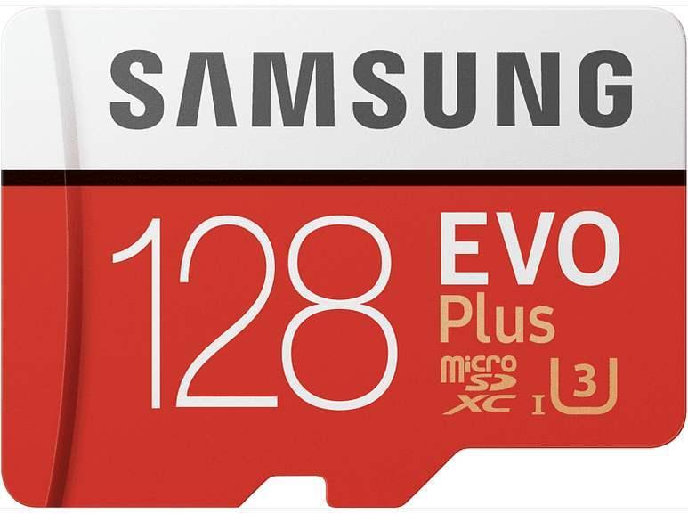 SAMSUNG EVO Plus Micro-SDXC Speicherkarte 128GB 100 MB/s für 14€ inkl. Versandkosten