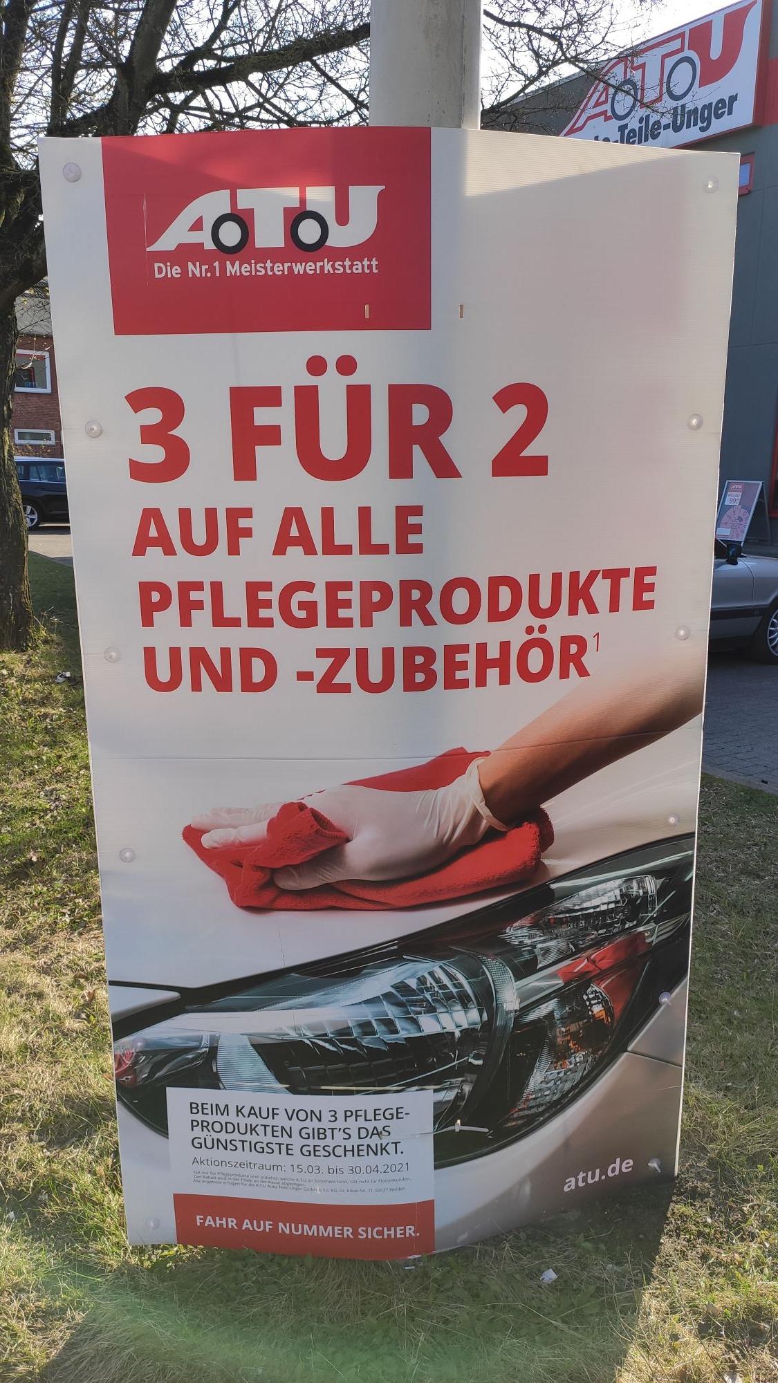 [A.T.U] 3 FÜR 2 AUF ALLE PFLEGEPRODUKTE UND-ZUBEHÖR¹