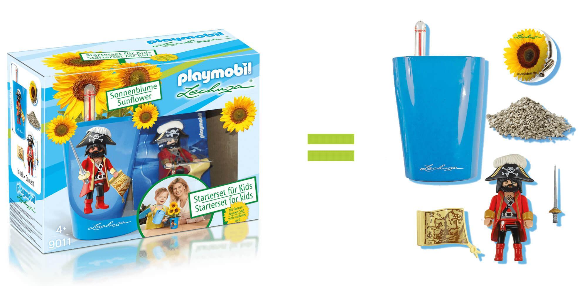 [Lechuza] Playmobil Piraten oder Prinzessin Starterset (Mini Deltini, Figur, Sonnenblumensamen, Lechuza PON) für jeweils 10,49€