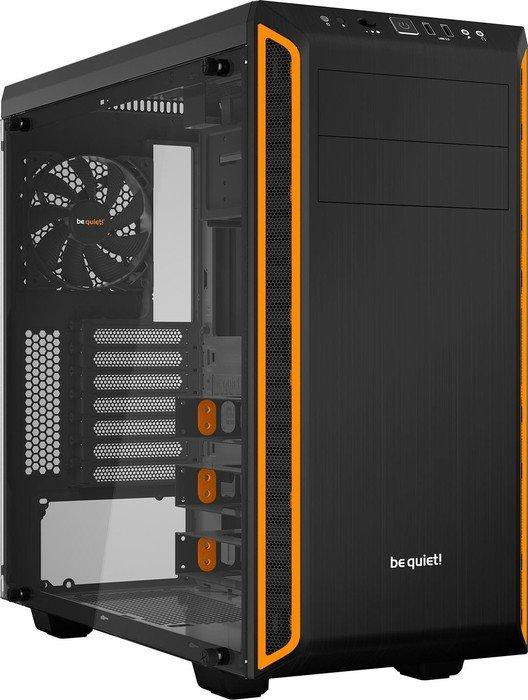 be quiet! Pure Base 600 gedämmt mit Sichtfenster Midi Tower ohne Netzteil schwarz/orange Pc Gaming Gehäuse