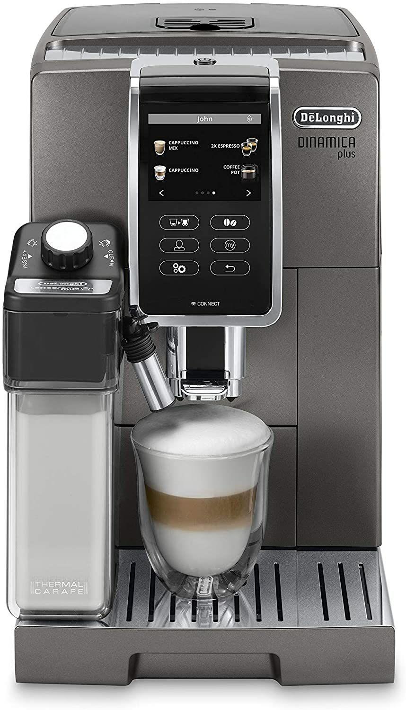 De'Longhi Dinamica Plus ECAM 370.95.T Kaffeevollautomat (Amazon.it)