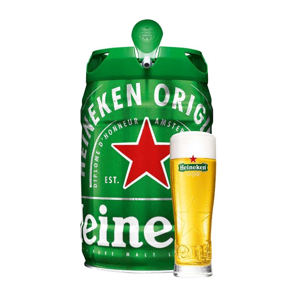 Heineken Bier Partyfass 5L mit CO2-Zapfsystem für nur 9,99€ am 30.04. [ALDI-NORD]