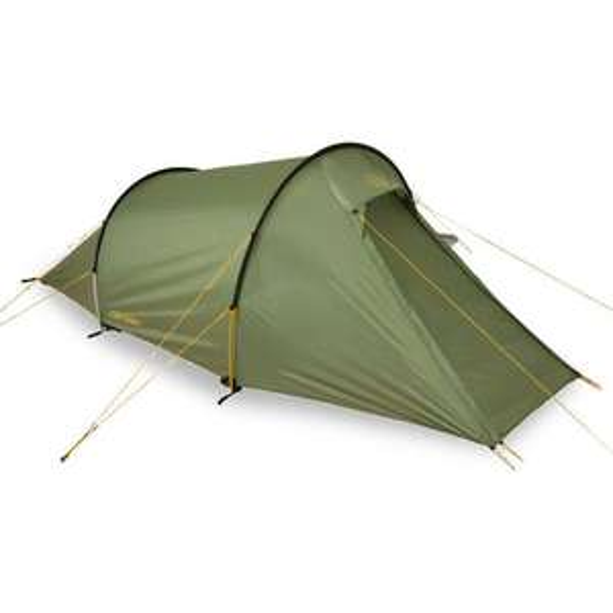 Nordisk Halland 2 PU 2-Personen-Zelt, 3000mm Wassersäule, Gewicht 3kg, dusty green [Campz]
